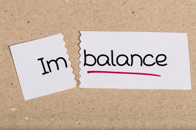 Sign With Word Imbalance Turned Into Balance